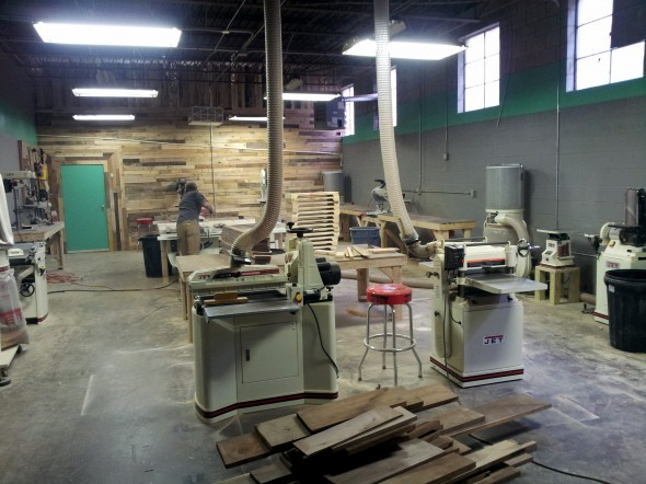 Fort Houston's woodshop