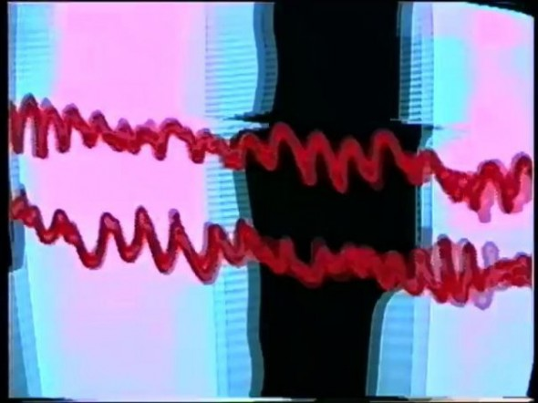 Still from a/v synth performance at Transcinema, 1999, Benton C. Bainbridge