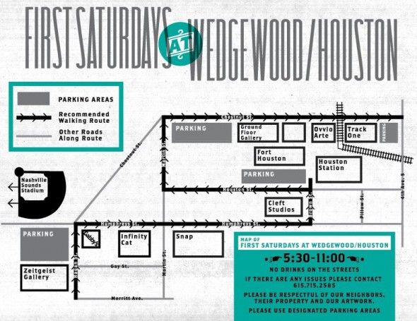arts & music at wedgewood/houston map