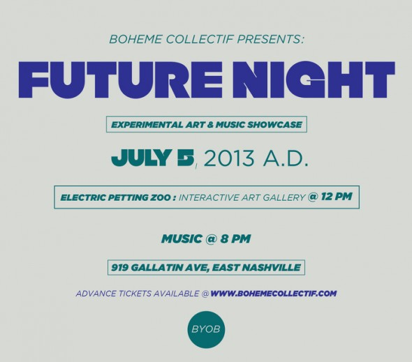 Future Night Flyer Boheme Collectif