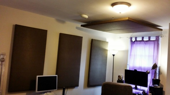 My new homemade sound absorption panels.